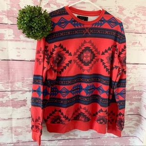 Forever Classic 21 Men Red Christmas Sweater XL